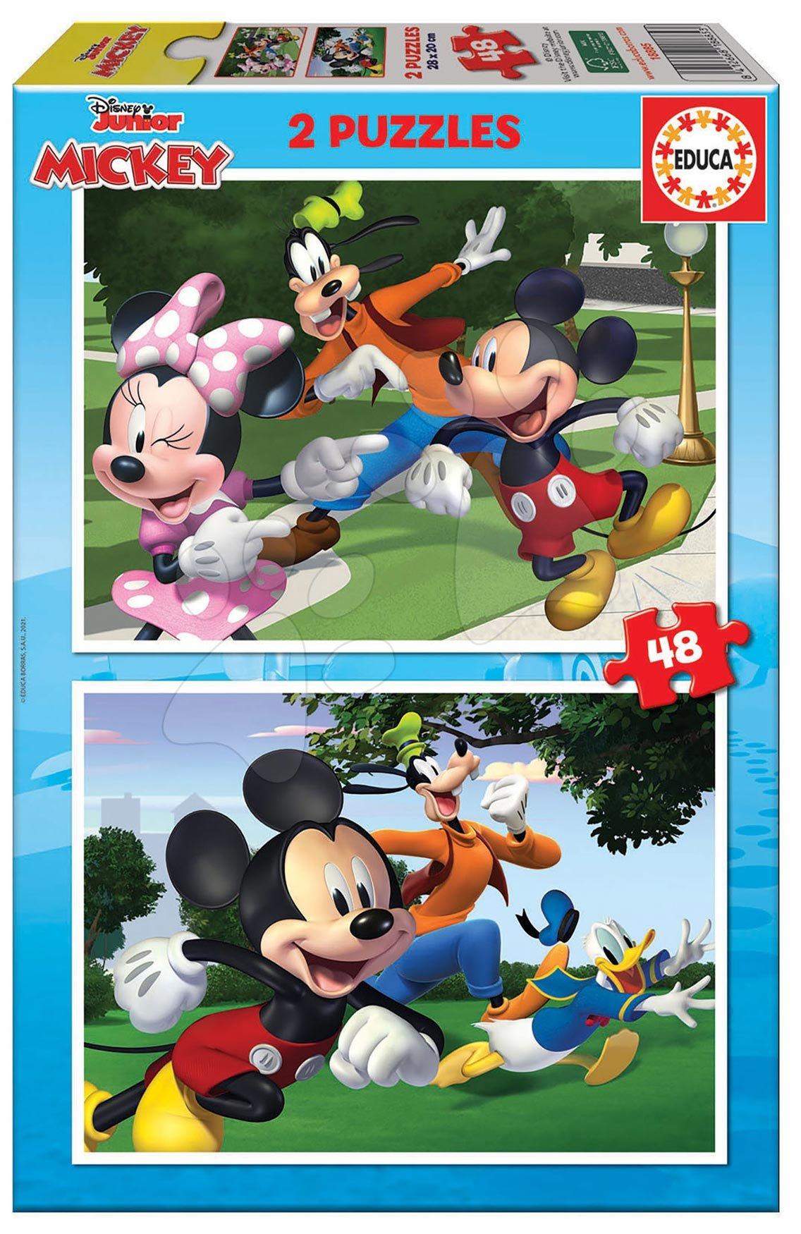 Puzzle Mickey&Friends Educa 2 x 48 dílků od 4 let