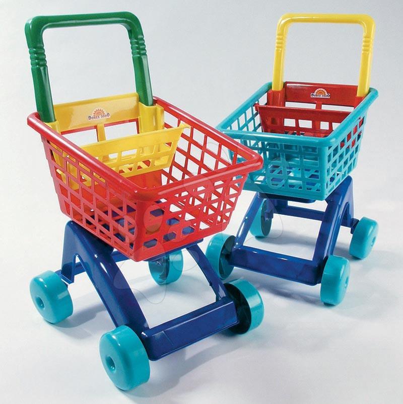 Trgovine za otroke - Nakupovalni voziček Dohány rdeč/moder