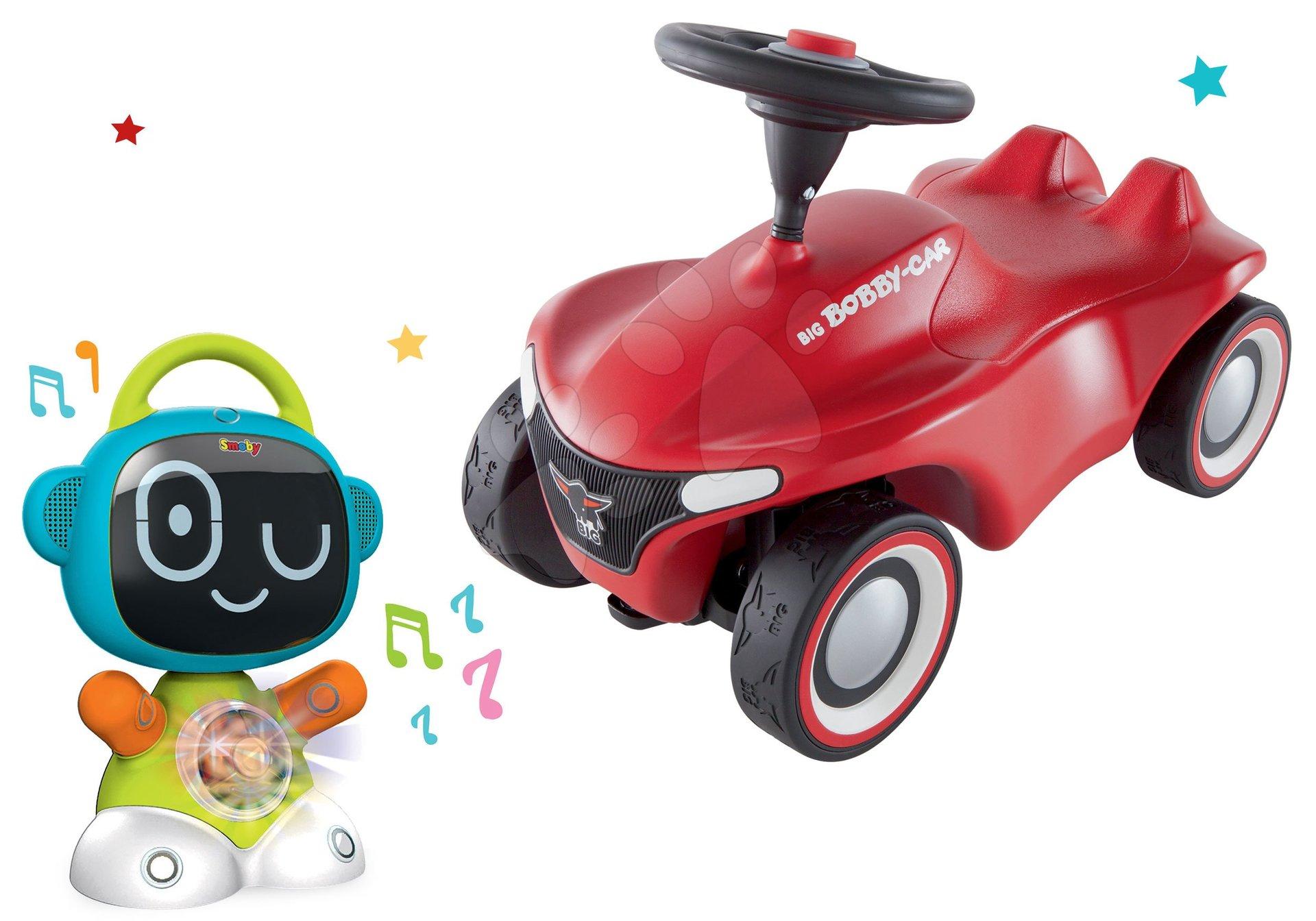 Set interaktívny Robot TIC Smart Smoby s 3 náučnými hrami a odrážadlo auto Bobby Car Neo Red