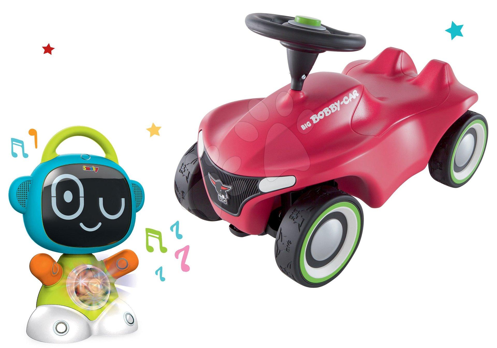 Set interaktívny Robot TIC Smart Smoby s 3 náučnými hrami a odrážadlo auto Bobby Car Neo Pink