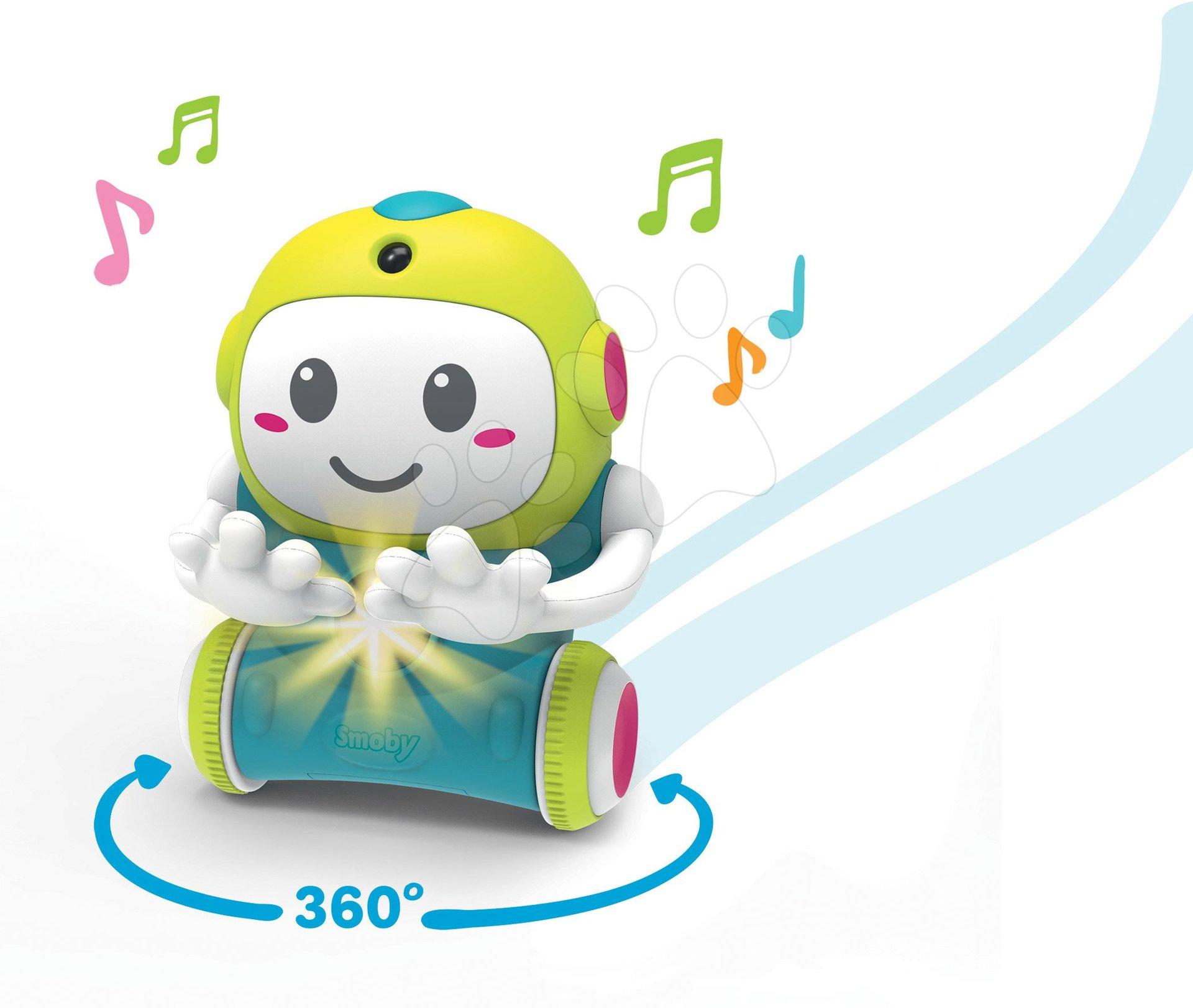 Interaktivní Robot 1,2,3 Smart Smoby s pohyblivým senzorem a 2 hrami od 18 měsíců (anglicky, francouzsky a německy)