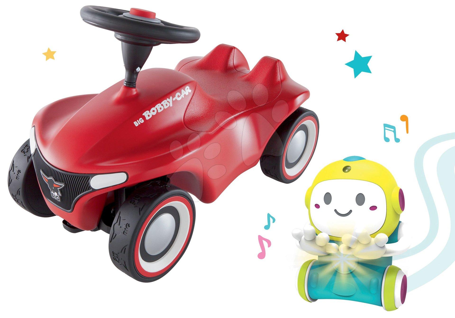Set Interaktívny Robot 1,2,3 Smart Smoby a odrážadlo auto Bobby Car Neo Red