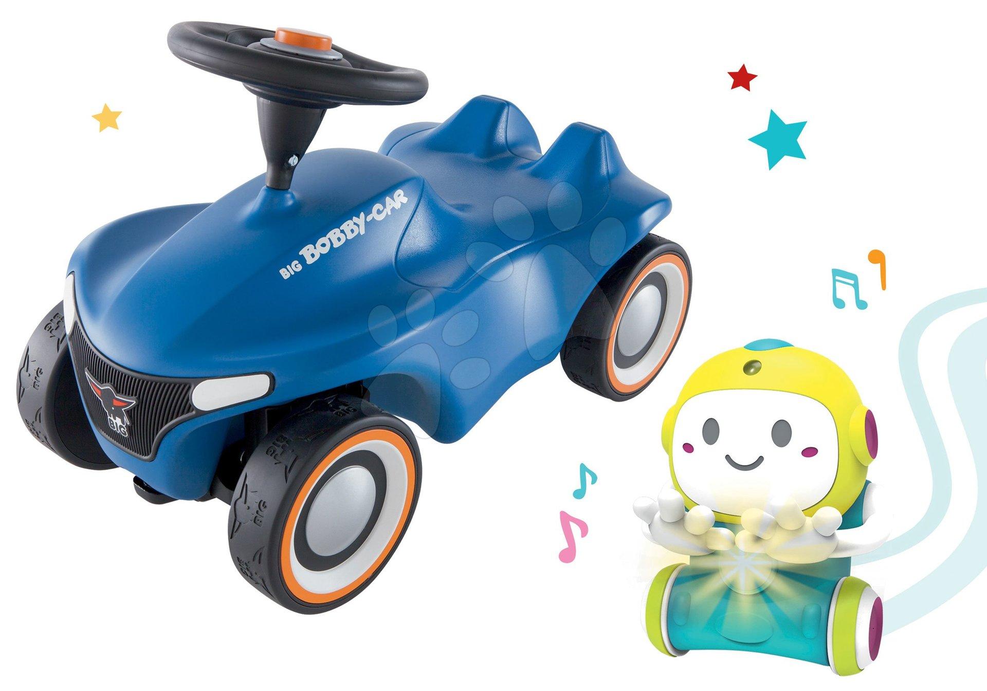 Set Interaktívny Robot 1,2,3 Smart Smoby a odrážadlo auto Bobby Car Neo Blue