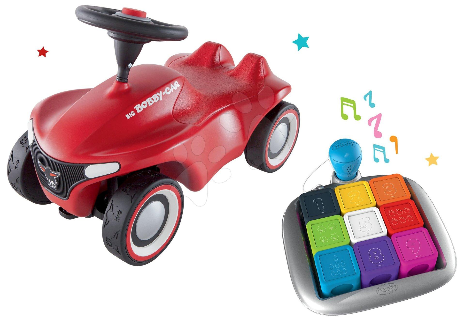 Set Interaktívna hra Clever Cubes Smart Smoby a odrážadlo auto Bobby Car Neo Red