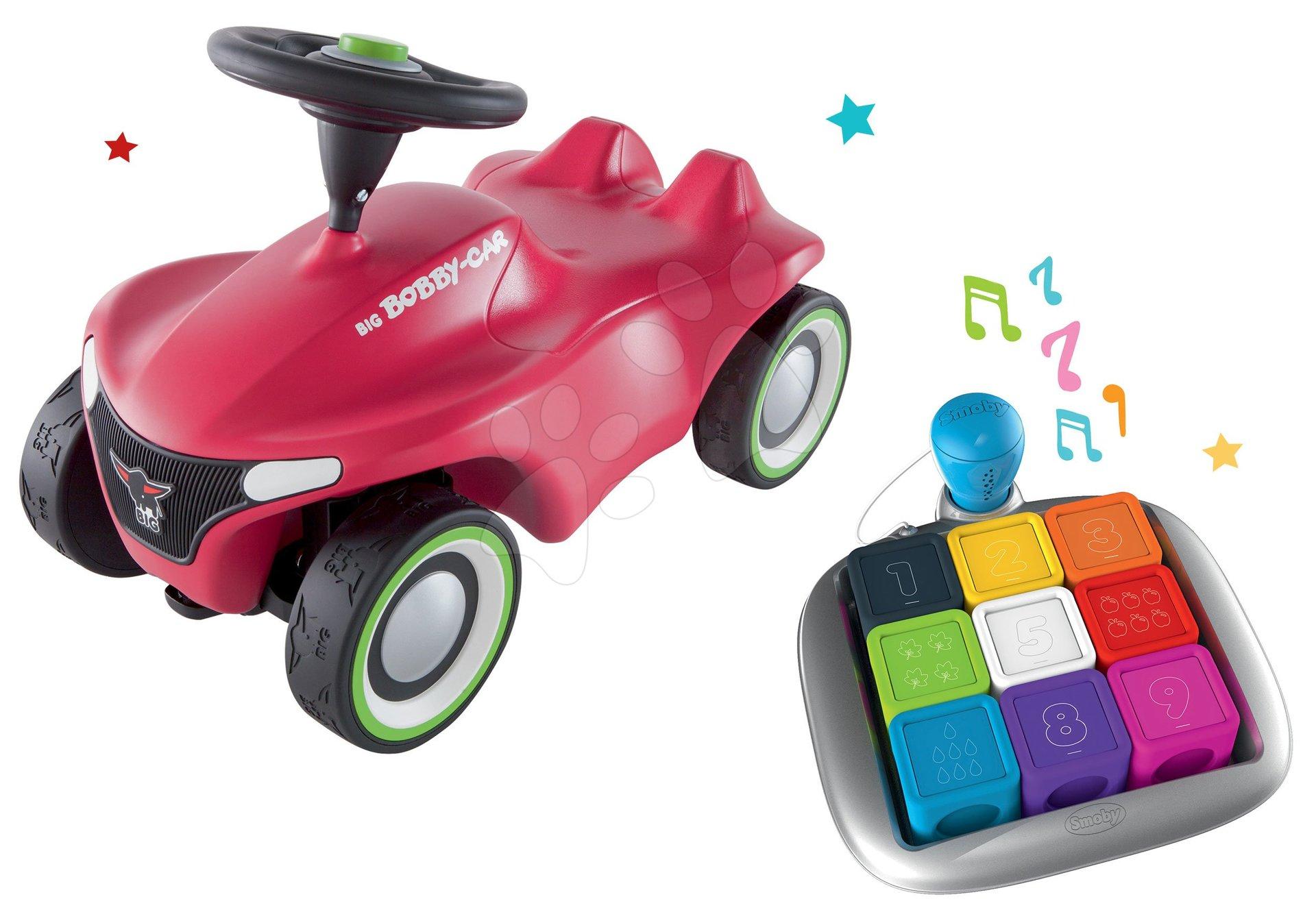 Set Interaktívna hra Clever Cubes Smart Smoby a odrážadlo auto Bobby Car Neo Pink