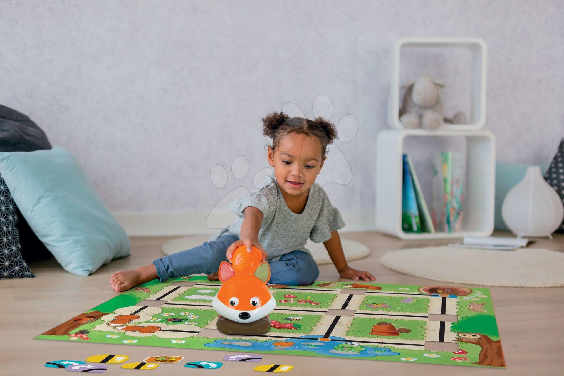 Interaktívna hra s líškou Foxy Smart Smoby s 2 hrami plánovania