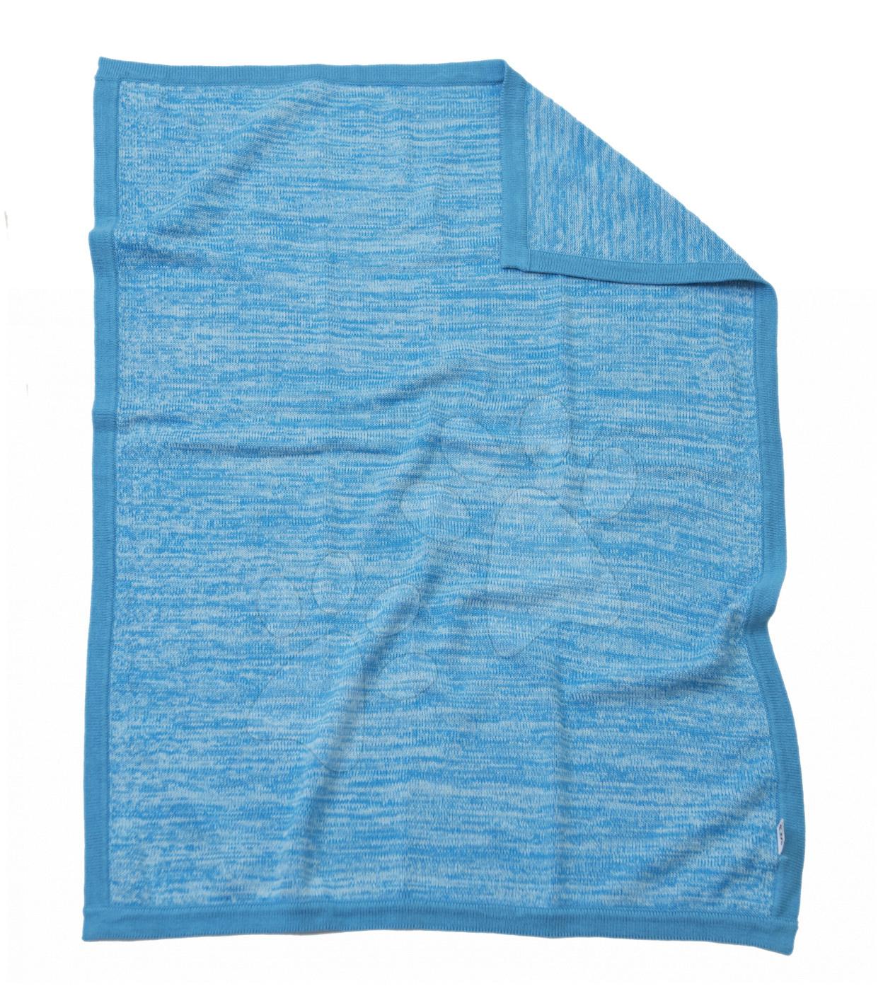 Pletená deka pre najmenších Joy toTs-smarTrike 100% prírodná bavlna modrá od 0 mesiacov