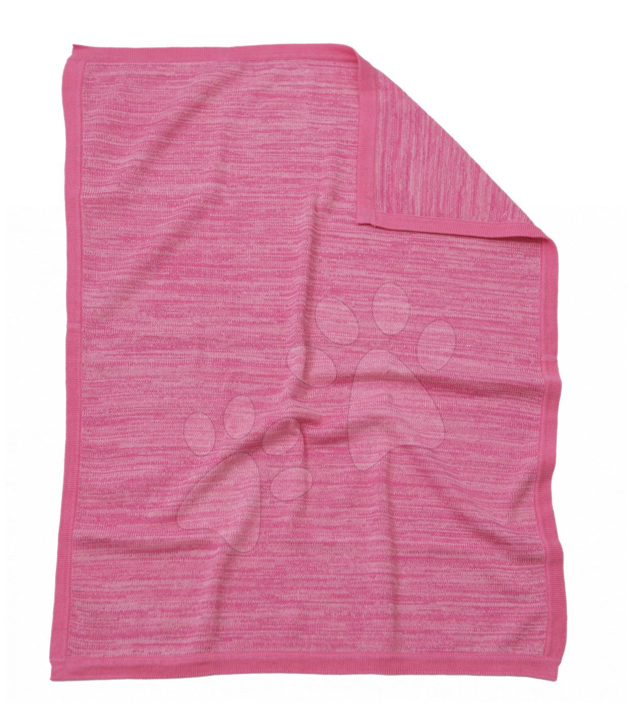 Pletená deka pro nejmenší Joy toTs-smarTrike 100% přírodní bavlna růžová od 0 měsíců