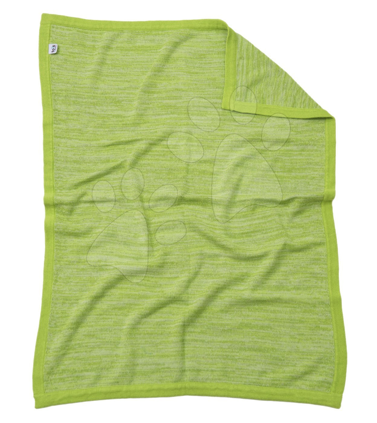 Pletená deka pro nejmenší Joy toTs-smarTrike 100% přírodní bavlna zelená od 0 měsíců