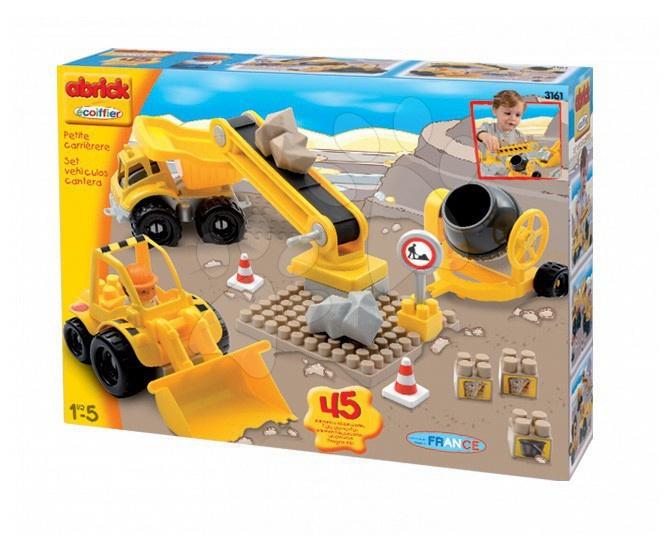 Joc de construit maşini de construcţii Maxi Écoiffier 45 bucăți de la 18 luni