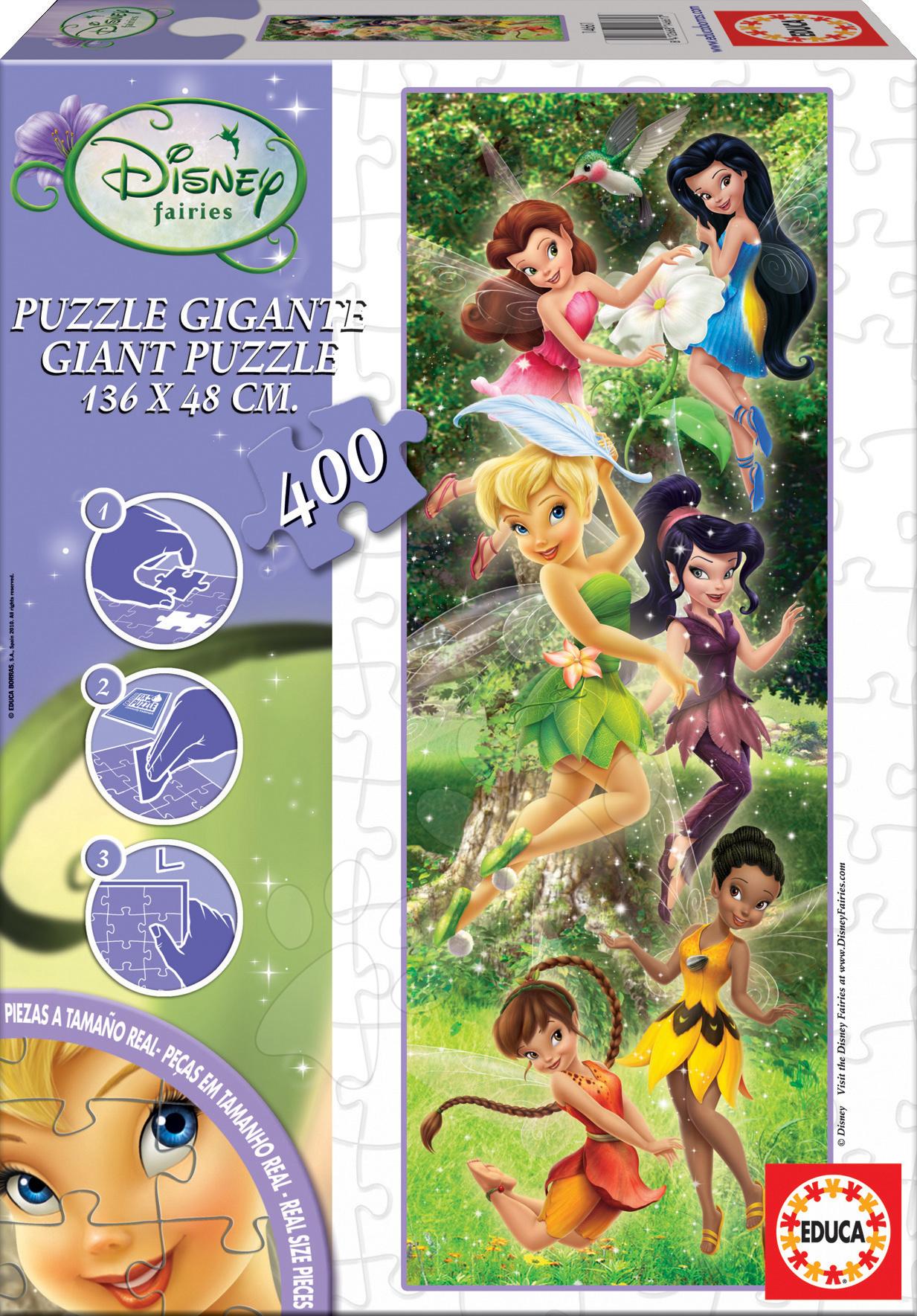 Staré položky - Disney puzzle Cardboard Giant Fairies Educa 400 ks