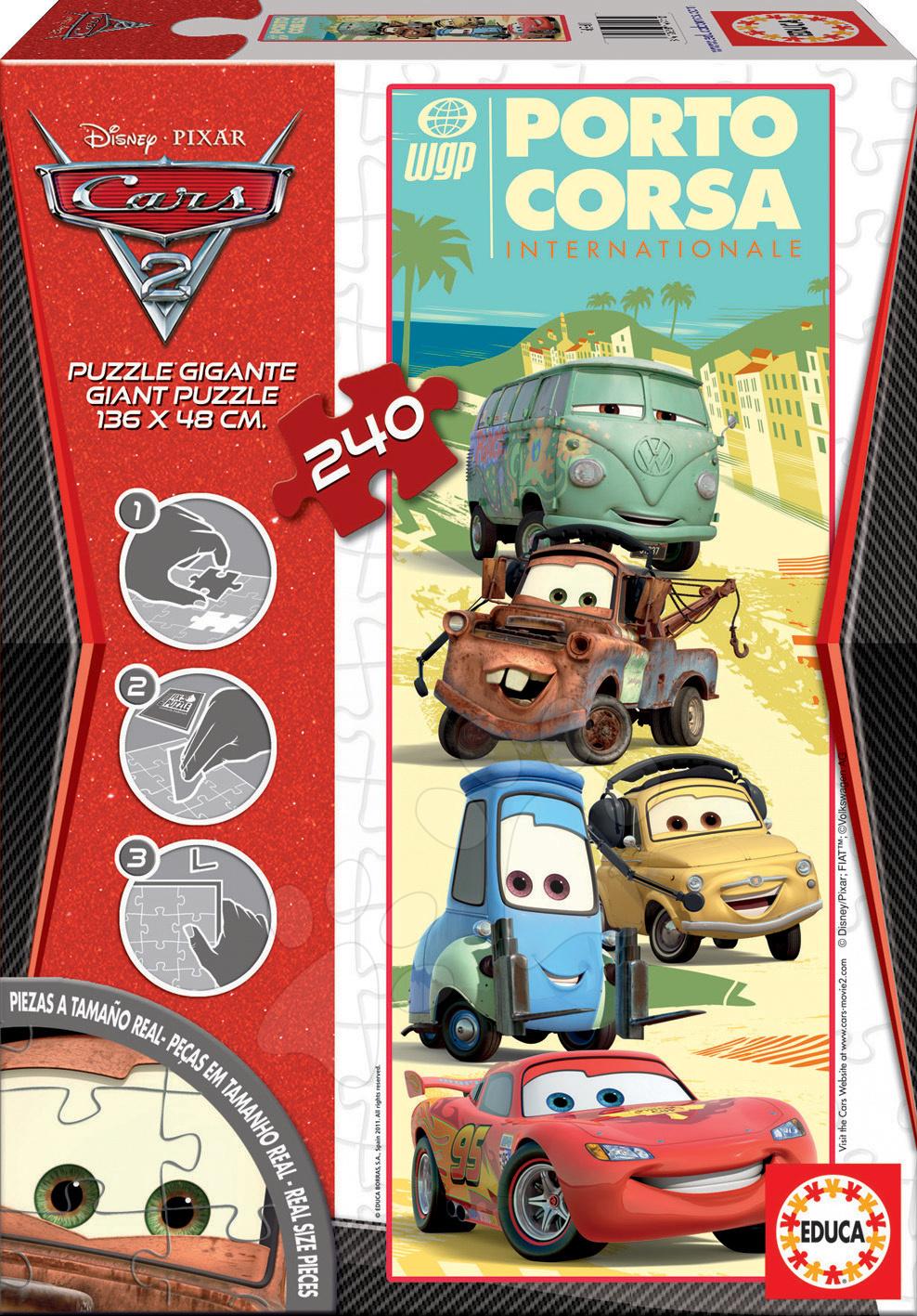 Puzzle pre deti Giant Disney Autá 2 Educa 240 dielov 14941 farebné