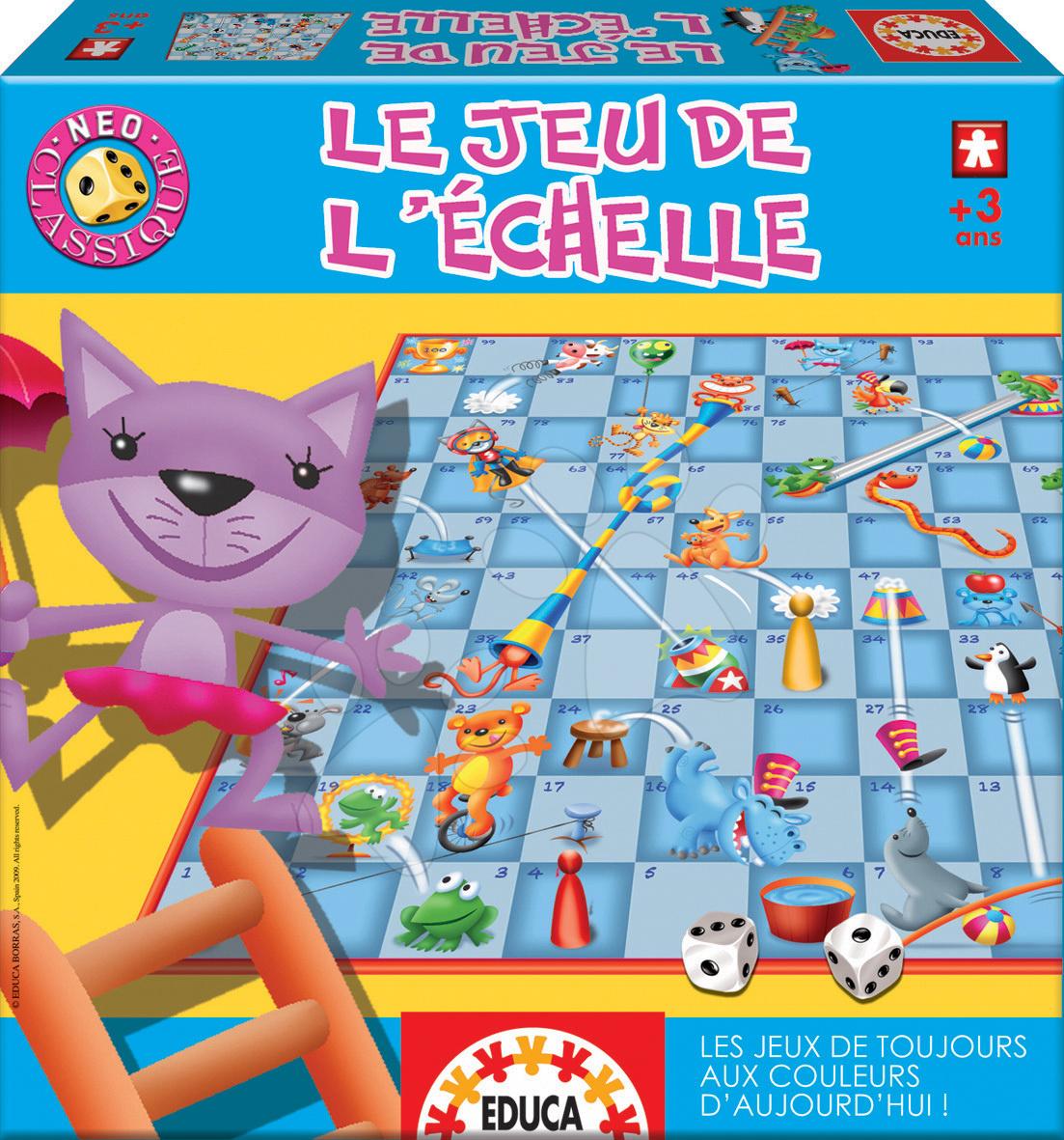 Společenská hra Le Jeu De L'Echelle Educa ve francouzštině