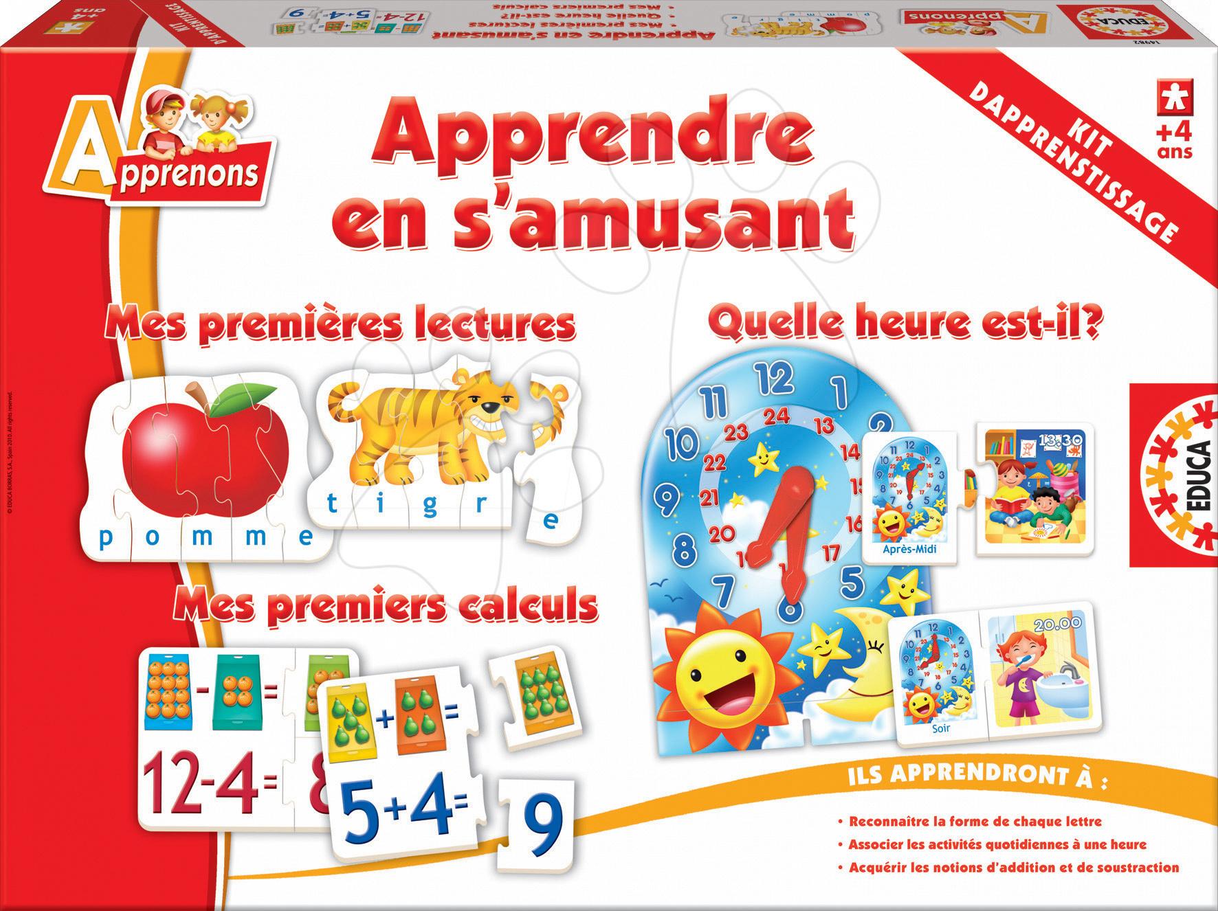 Cudzojazyčné spoločenské hry - Spoločenská hra Apprendre en s'amusant Educa vo francúzštine od 4 rokov