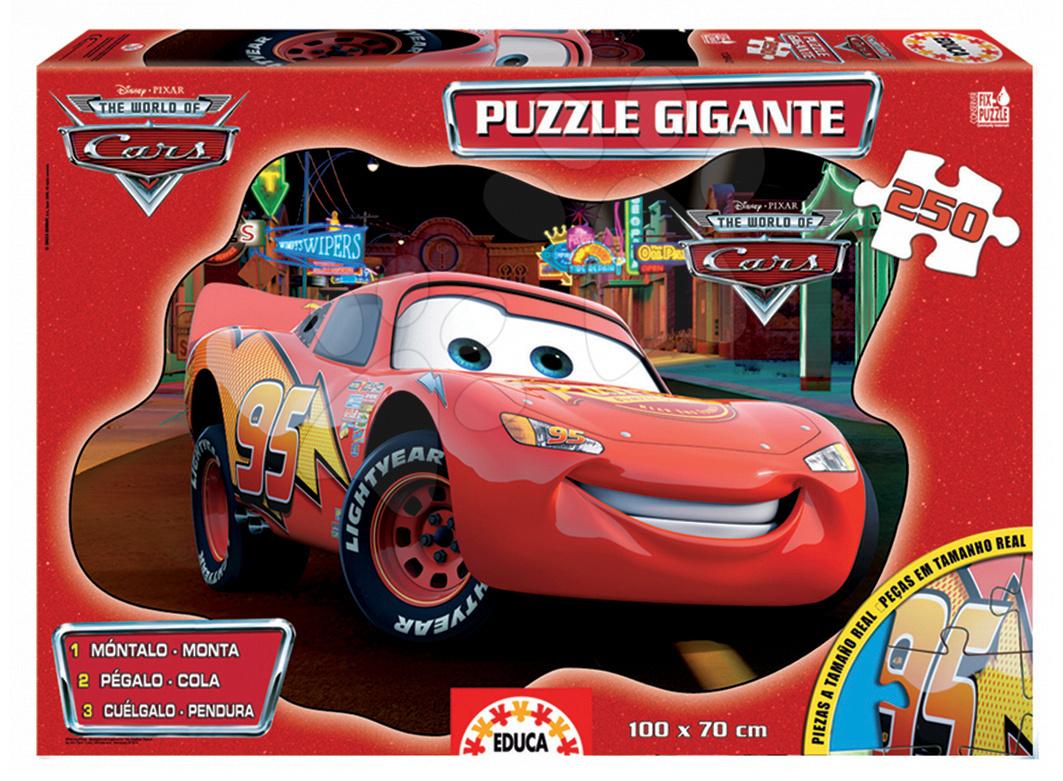 Dětské skládací koberce - Puzzle Giant Auta Educa 250 dílů od 8 let
