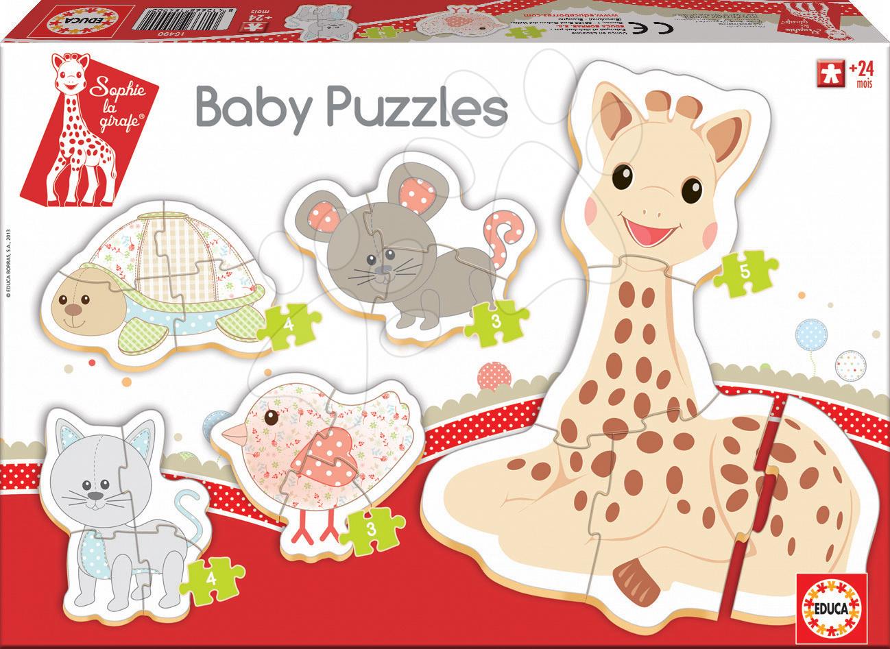 Baby puzzle Sophie la Girafa Educa 5obrázkové od 24 měsíců