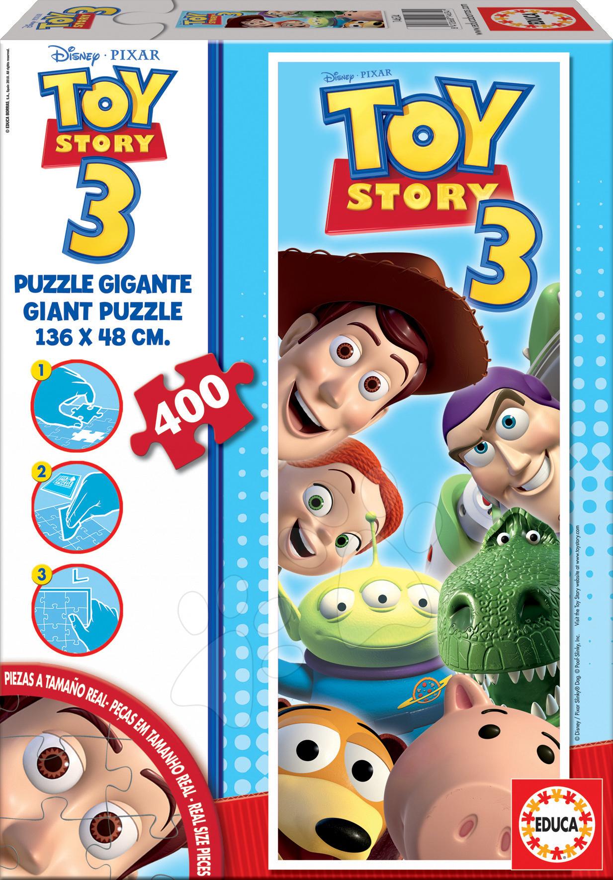 Detské skladacie koberce - Puzzle Giant Toy Story Educa 400 dielov od 8 rokov