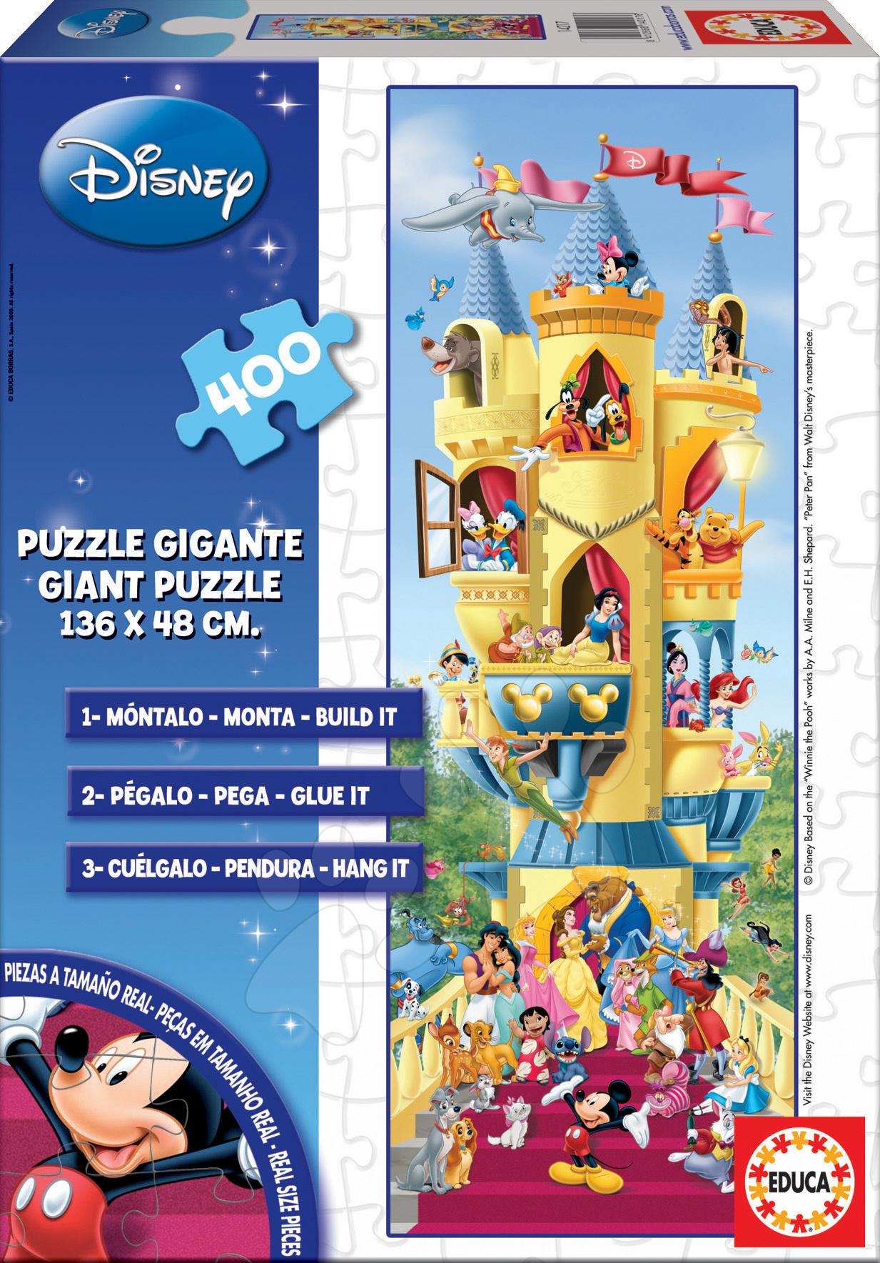 Dětské skládací koberce - Puzzle Giant Disney Koláž Educa 400 dílů od 8 let