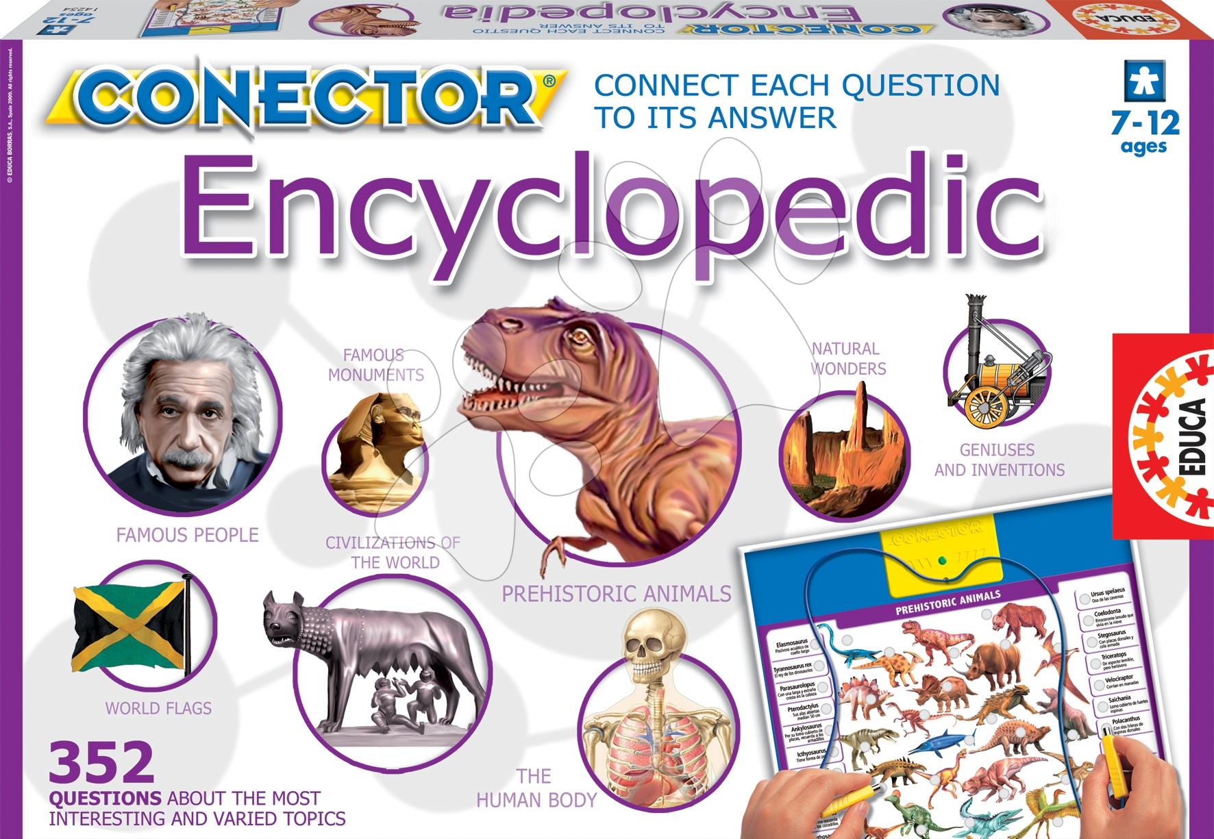 Cudzojazyčné spoločenské hry - Náučná hra Conector Encyclopedic Educa 352 otázok v angličtine od 6 rokov