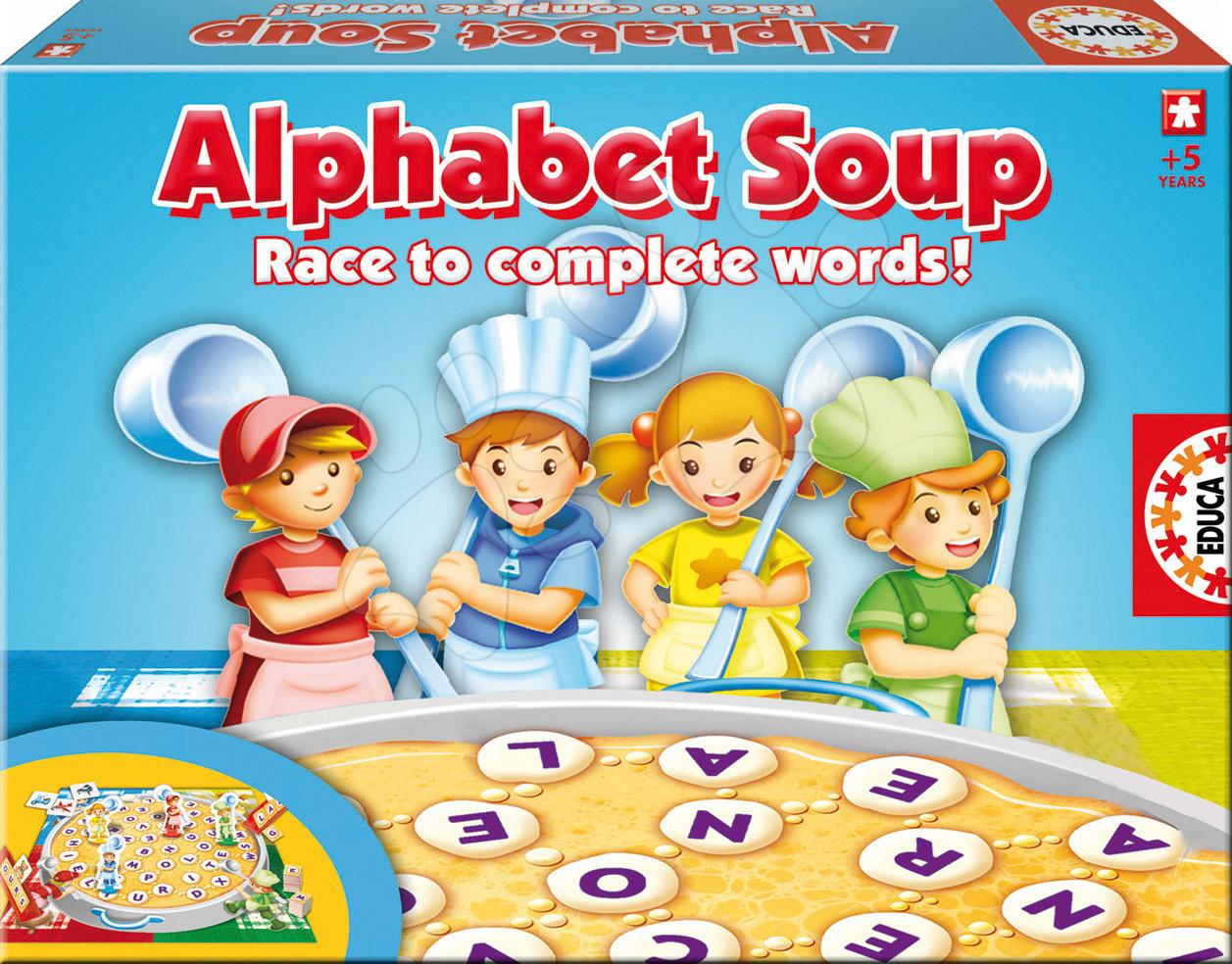 Naučná hra Alphabet Soup Educa v angličtině od 5 let