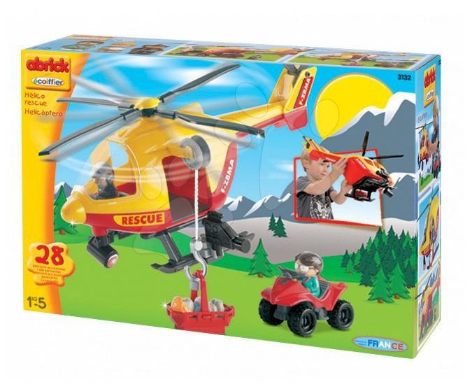 Staré položky - Stavebnice Abrick helikoptéra Écoiffier od 18 měsíců