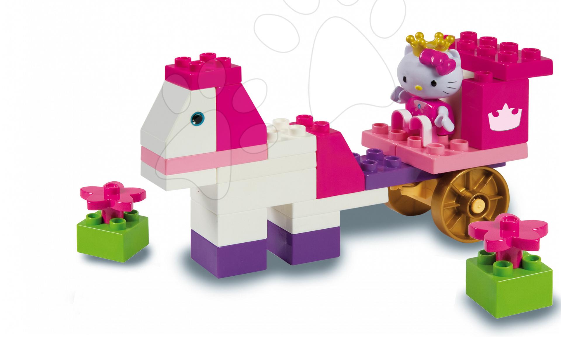 Stavebnice v dóze PlayBIG Hello Kitty na kočáře  BIG 44 kusů od 18 měsíců
