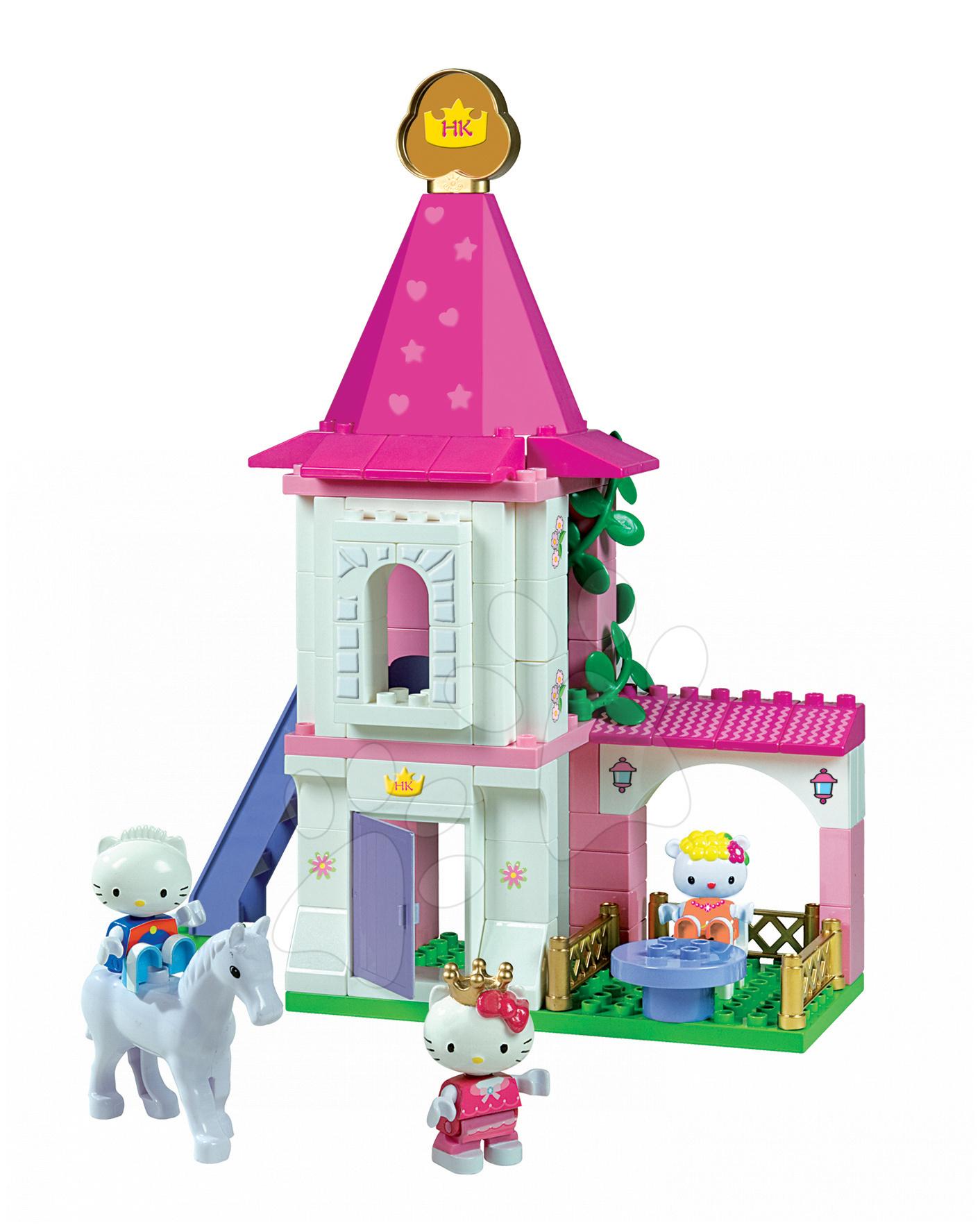 Stavebnice PlayBIG Hello Kitty na zámku BIG s 3d figurkami 80 kusů od 18 měsíců
