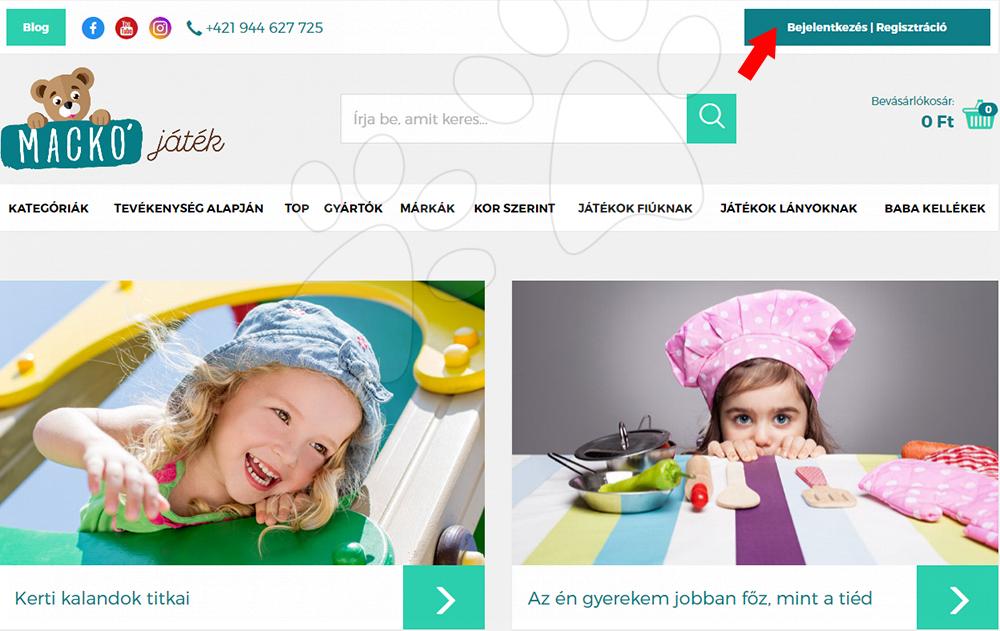 Regisztráció a MackóJáték.hu-ra