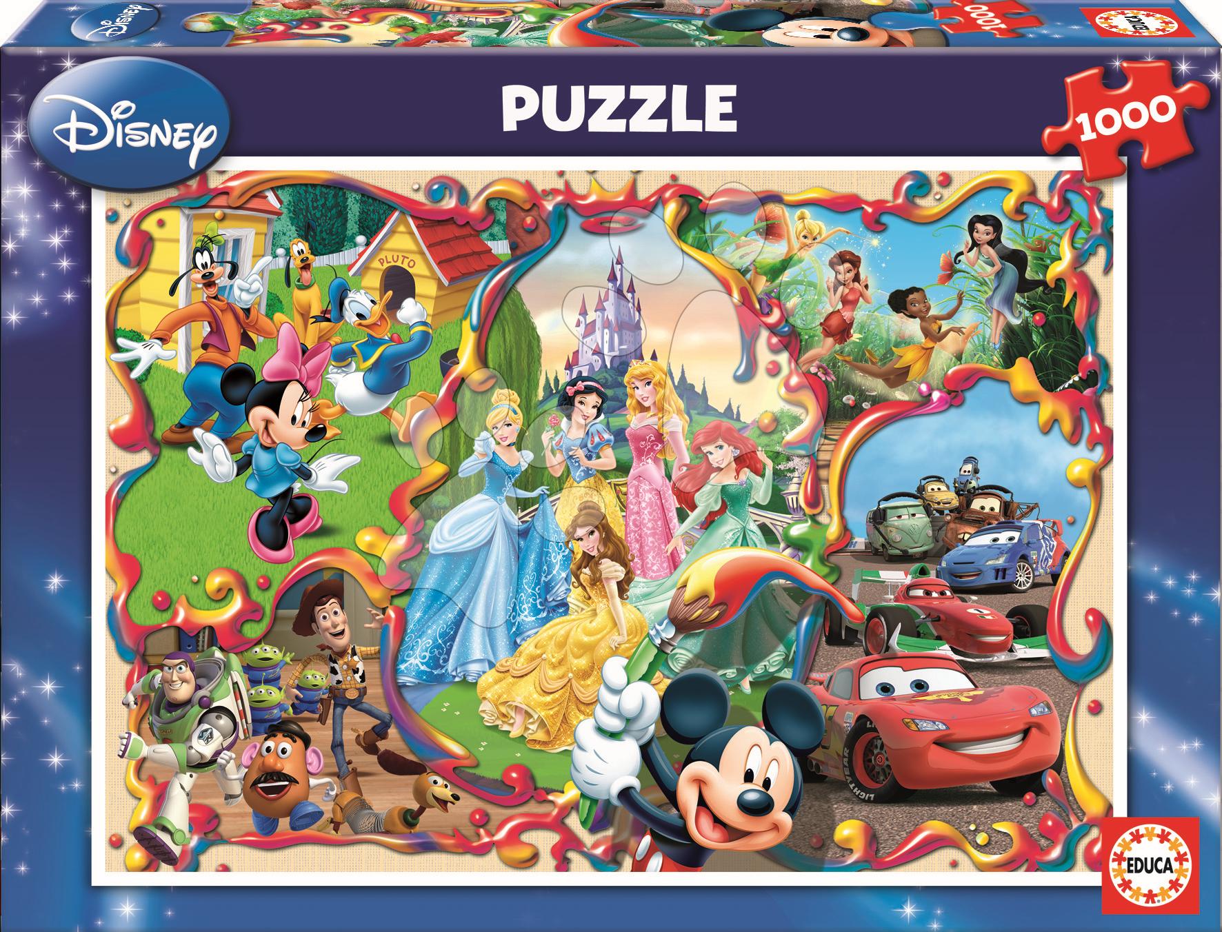 Puzzle Disney Family Worlds Educa 1000 dielov od 12 rokov