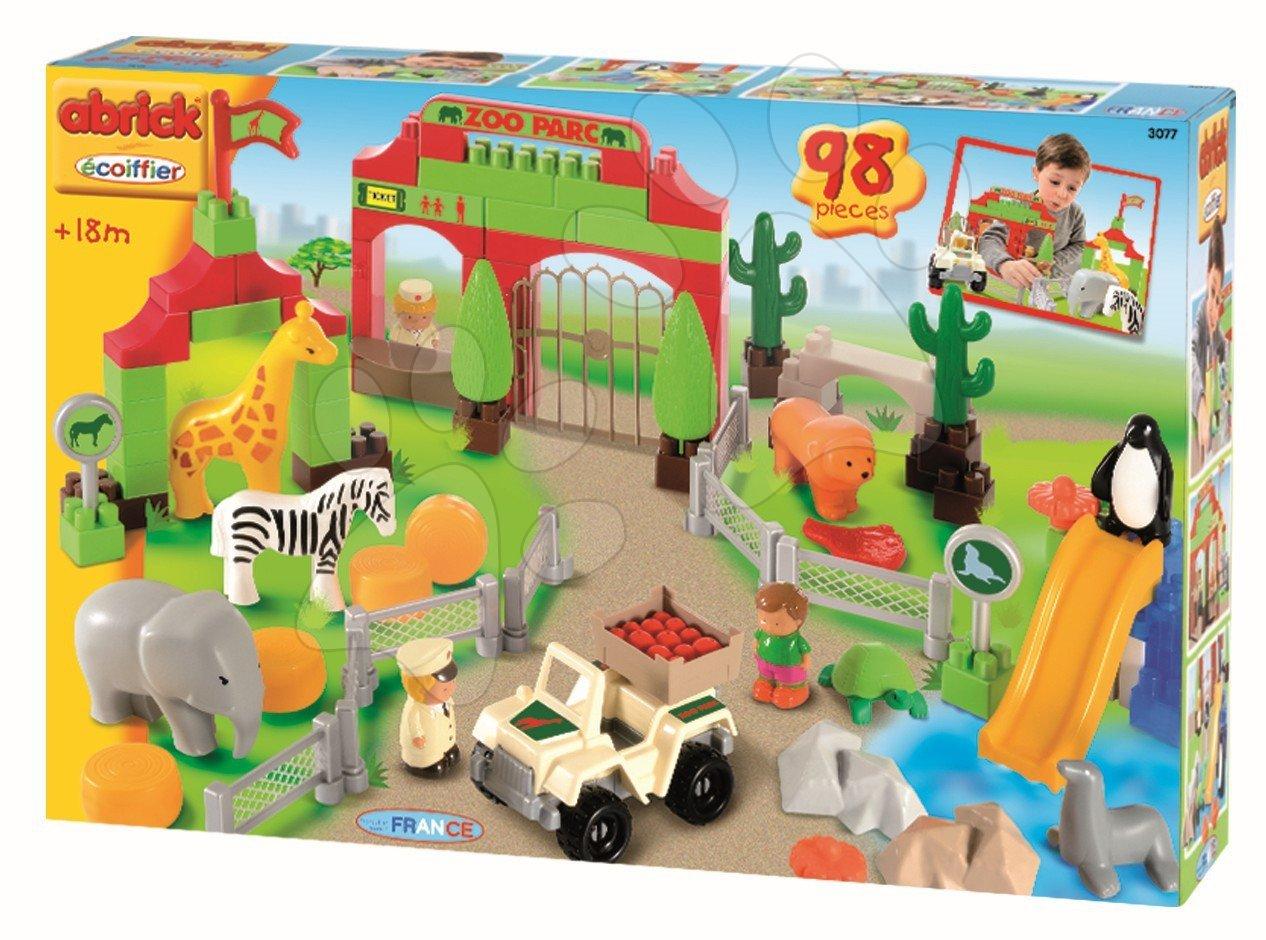 Stavebnice pro děti Abrick - ZOO park Écoiffier 98 dílů od 18 měsíců