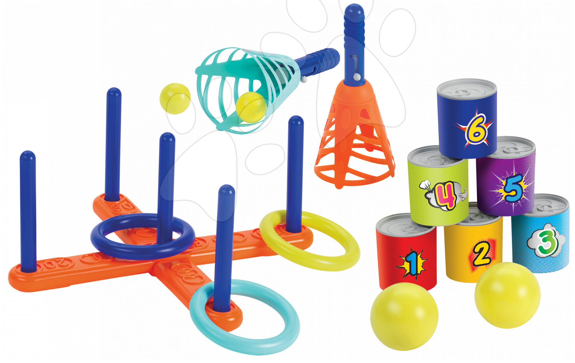 Set de sport pentru grădină Sport 3in1 Écoiffier 3 feluri de jocuri