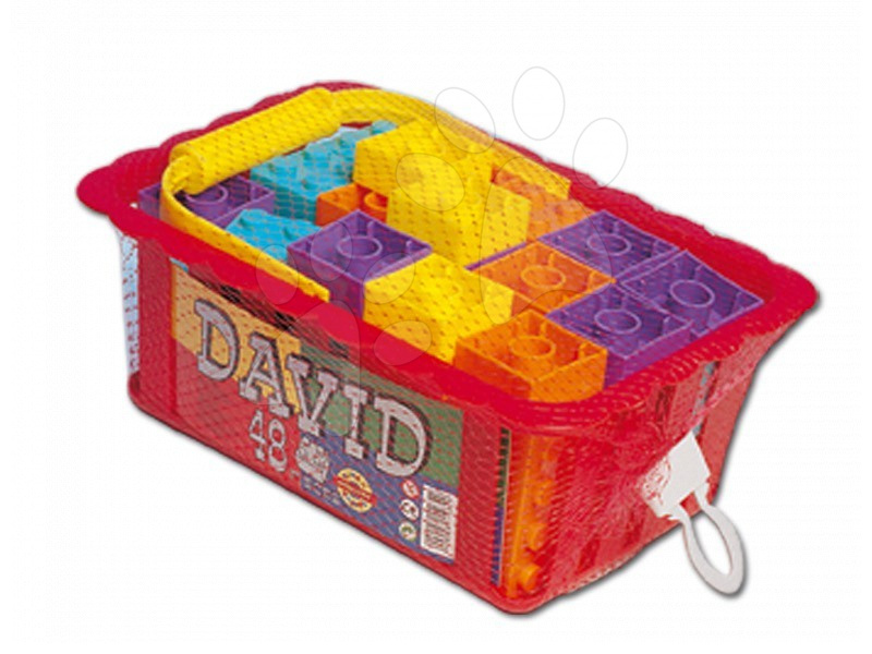 Cuburi de construit Dohány - Cuburi de jucărie David Dohány 48 de piese de la 24 luni