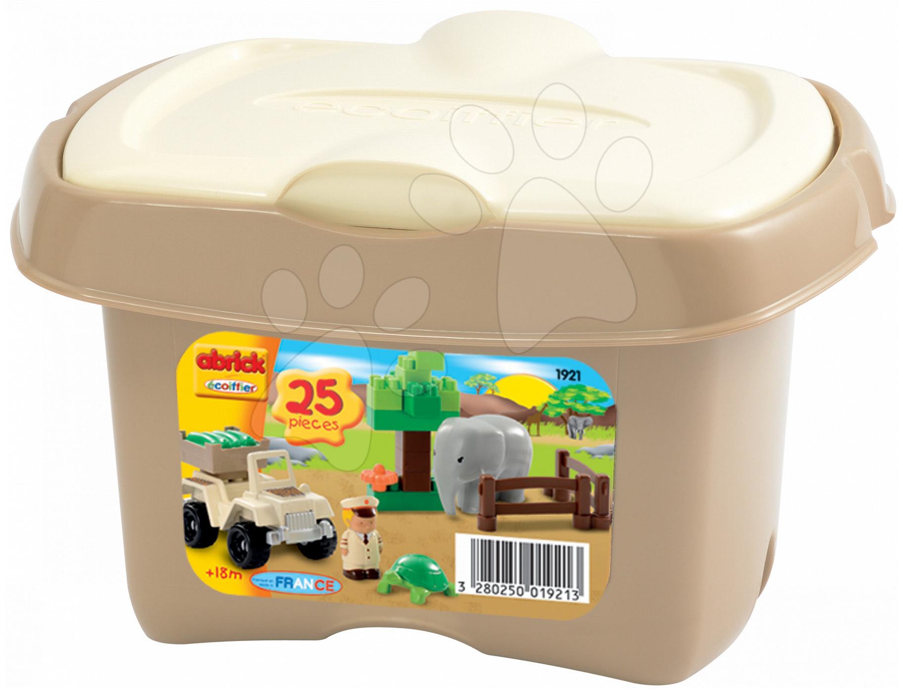 Stavebnice Abrick - safari se slonem Écoiffier 25 dílů od 18 měsíců