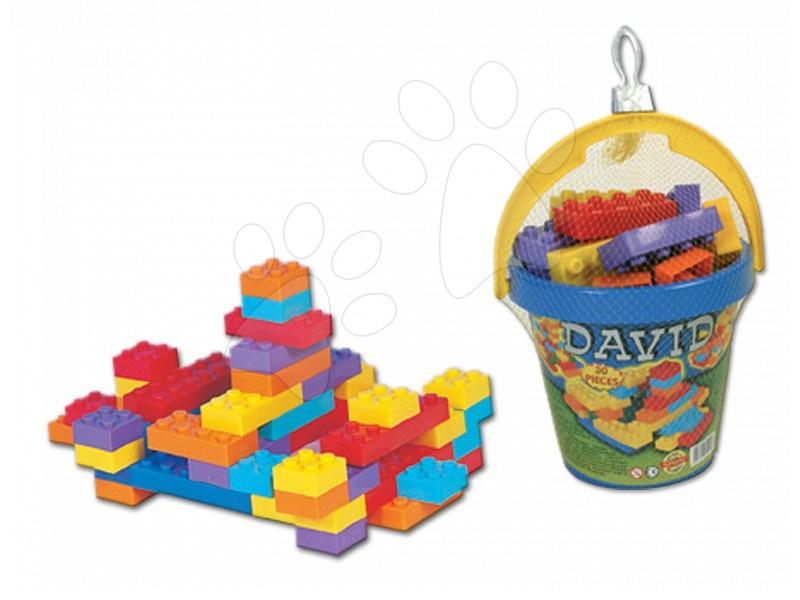 Stavebnice Dohány - Kostky David Dohány ve kbelíku 30 dílů od 24 měsíců
