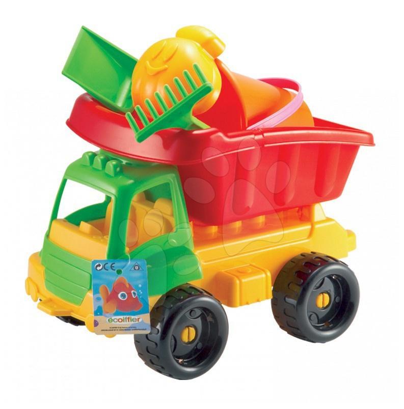 Mașini pentru nisip - Maşină basculantă cu set de găleată Écoiffier 4 accesorii (lungimea maşinii 34 cm) de la 18 luni