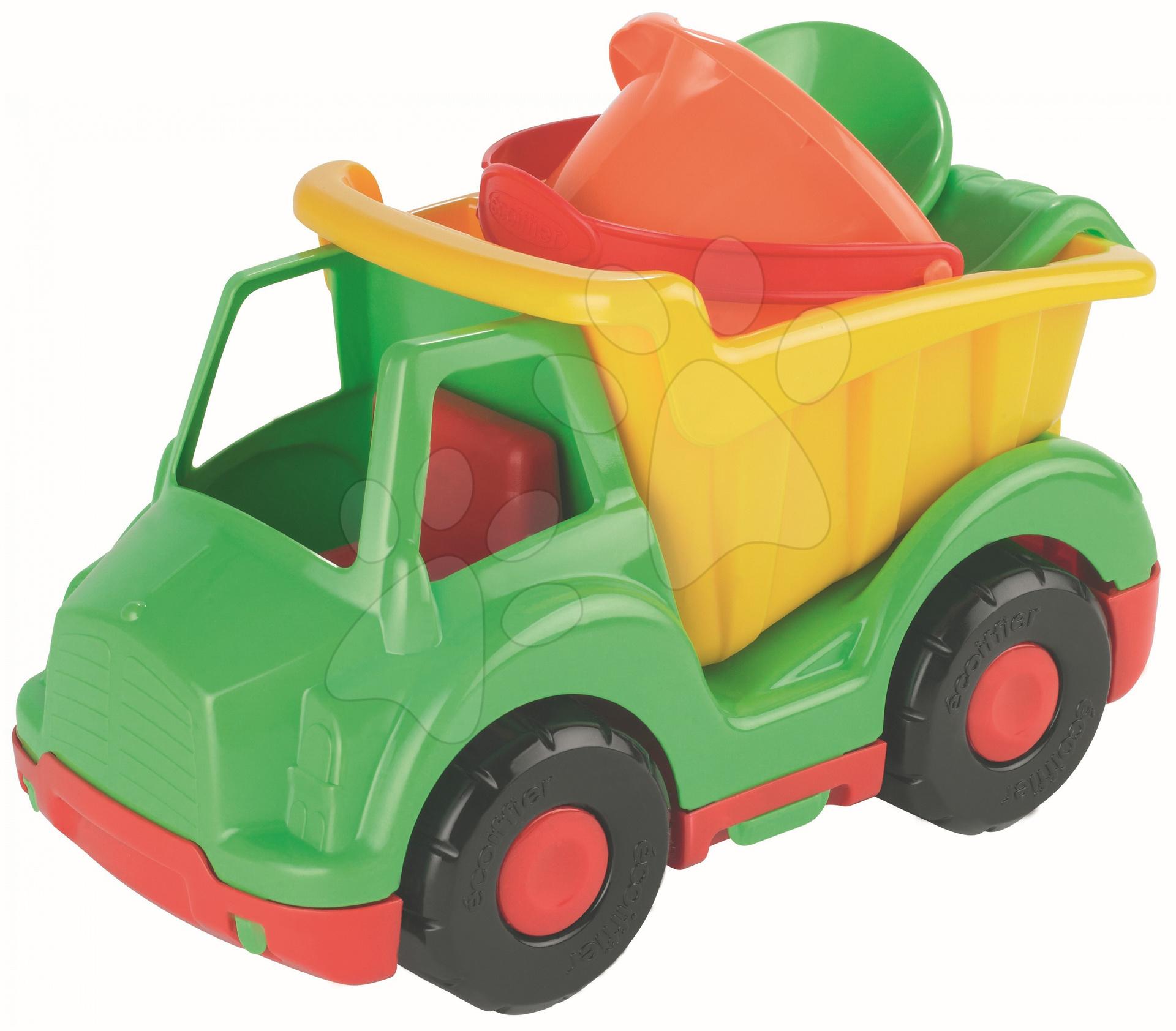 Nákladné auto Écoiffier zeleno žlté s vedro setom 3 kusy od 18 mes