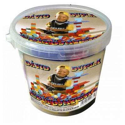 Dohány építőkockák - Játékkockák David Dohány vödörben 40 darabos 24 hó-tól