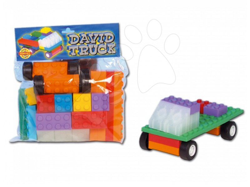 Kostky David - nákladní autíčko Dohány barevné dílky od 24 měsíců