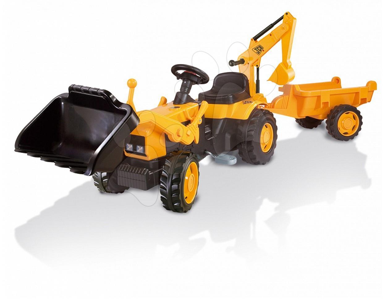 Dětská šlapací vozidla - Traktor JCB max Smoby