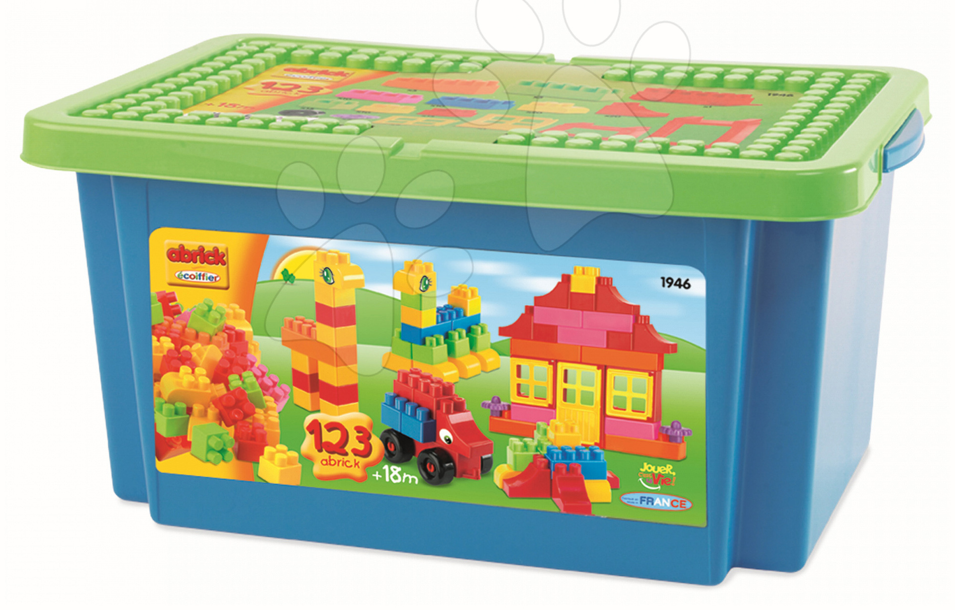 Otroške kocke Abrick - Kocke Abrick Écoiffier v škatli 123 delov od 18 mes