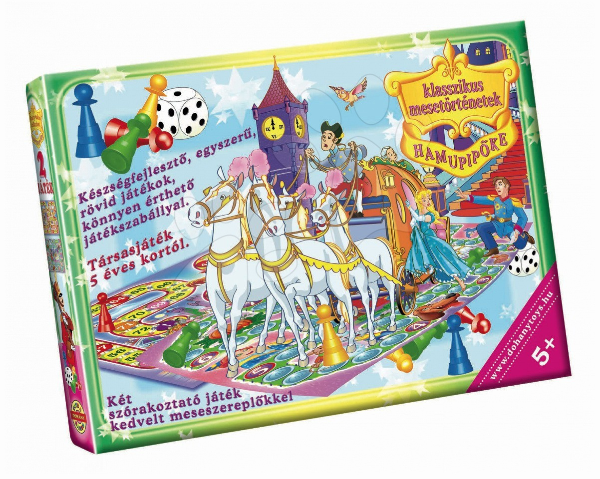 Společenské hry pro děti - Klasická společenská hra Popelka Dohány 2 různé hrací desky od 5 let