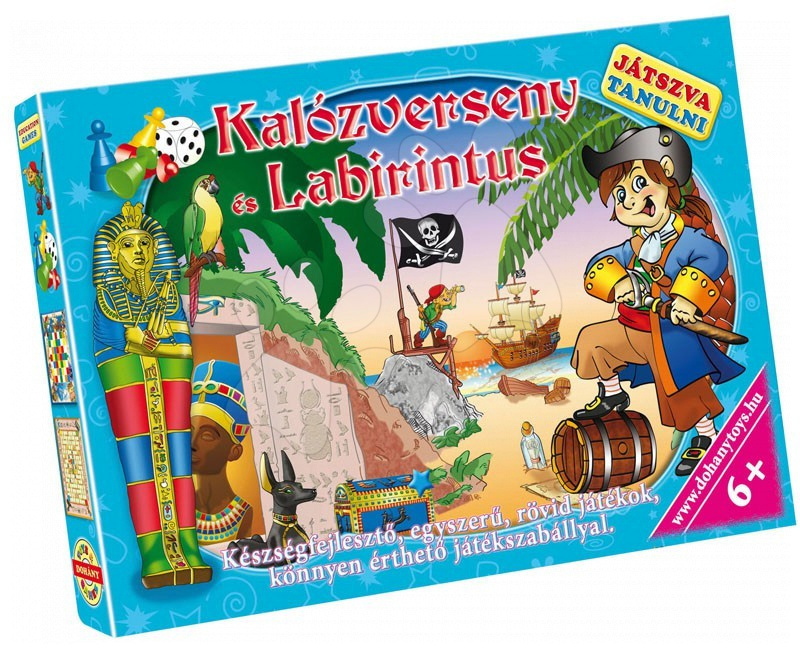 Družabne igre za otroke - Družabna igra Učenje z igro Pirat in Labirint Dohány od 6 leta