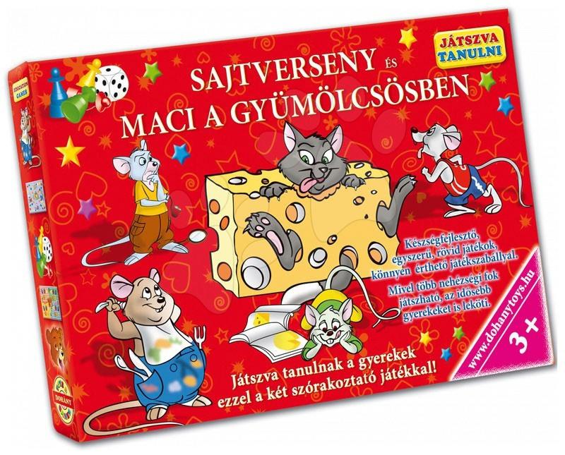 Družabna igra Učenje z igro Dirka za sir in Medvedek v sadnem vrtu Dohány