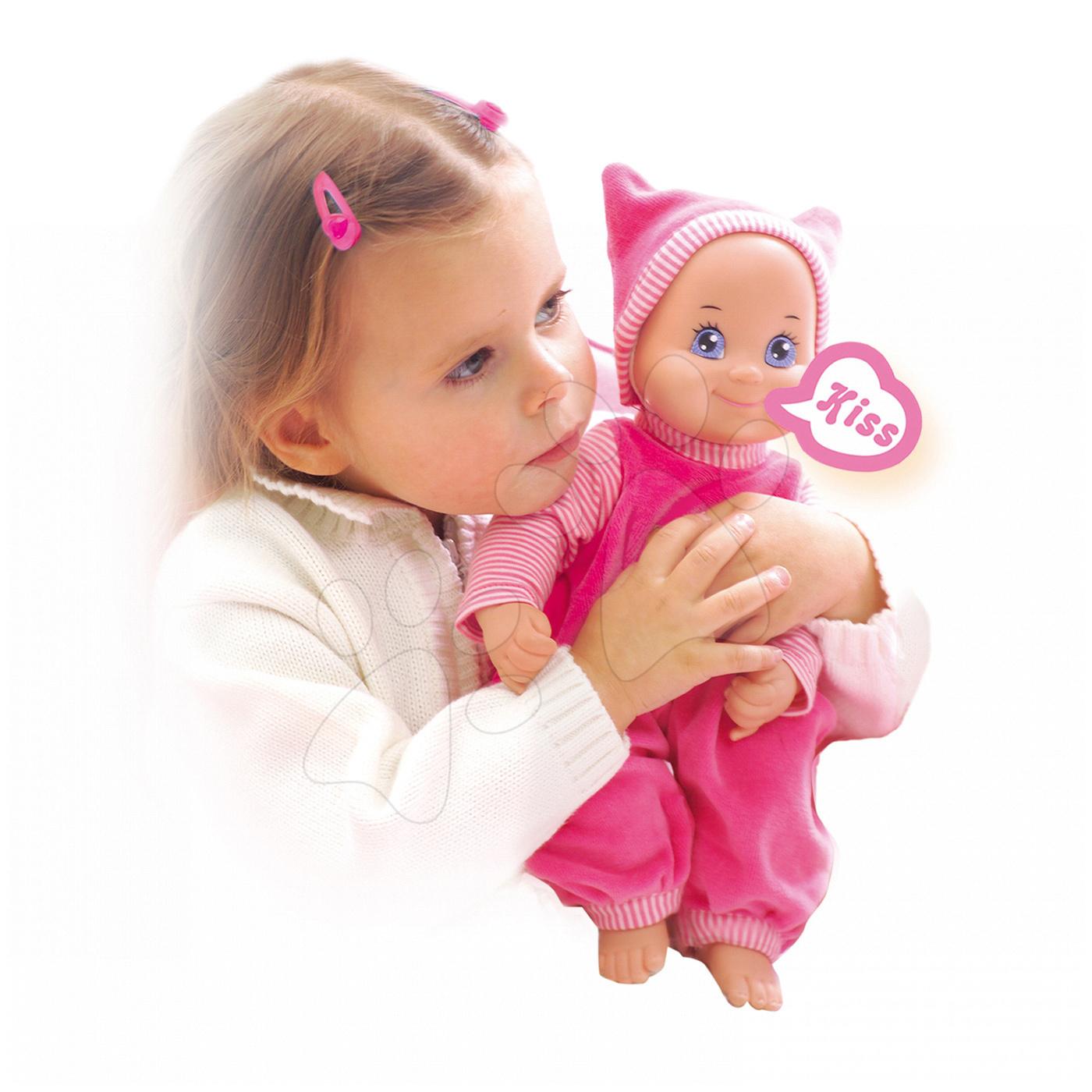 Panenky od 9 měsíců - Panenka se zvukem MiniKiss Smoby 27 cm od 12 měsíců