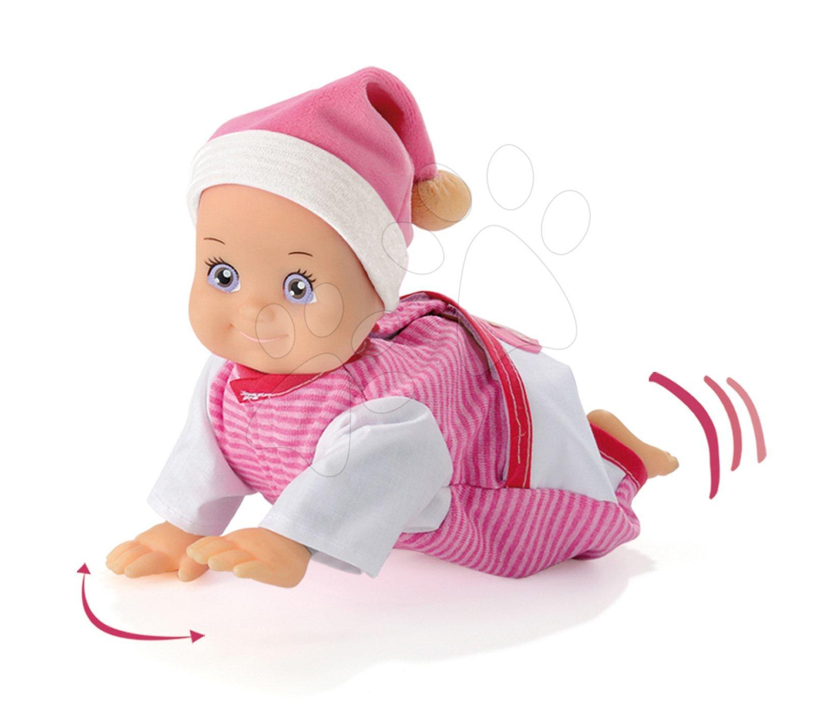 Játékbabák 9 hónapos kortól - Játékbaba hanggal MiniKiss Smoby mászó 27 cm 12 hó-tól