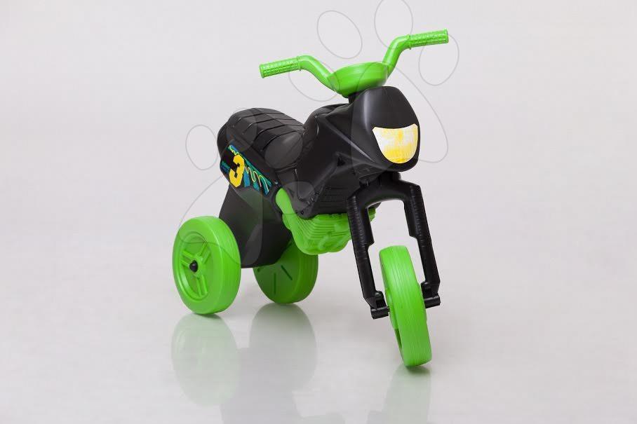 Motorky - Odrážadlo Enduro malé čierno-zelené od 18 mes