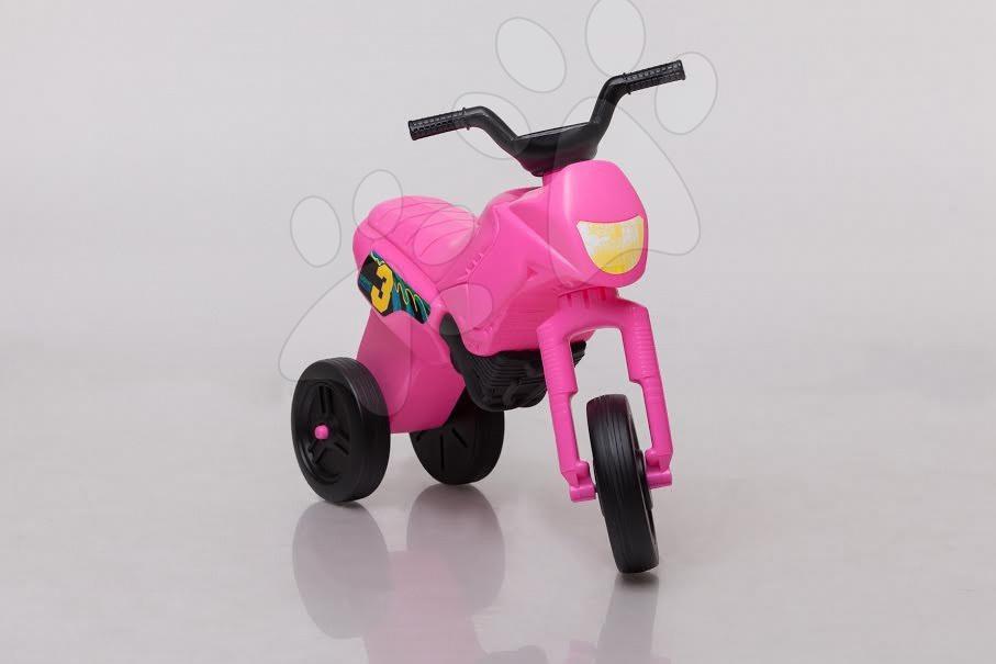 Motorky - Odrážadlo Enduro malé ružovo-čierne od 18 mes