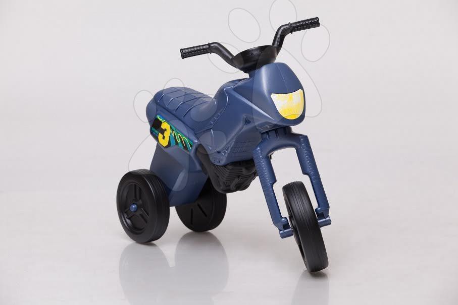 Motorky - Velké odrážedlo Enduro ocelově modré od 24 měsíců
