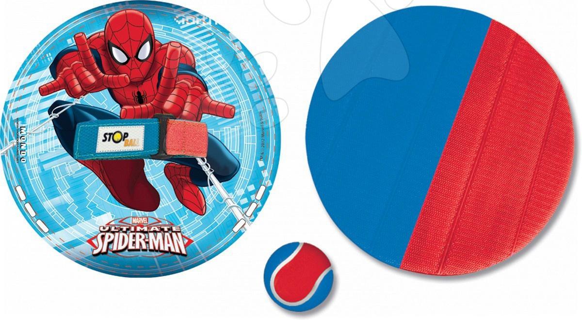 Staré položky - Stop ball raketa Spiderman Mondo na suchý zips 21 cm