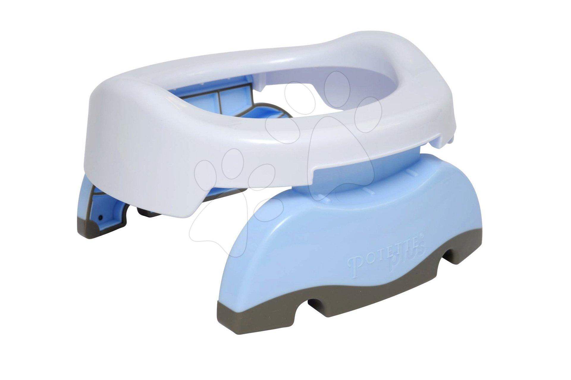 Cestovný nočník/redukcia na WC Potette Plus bielo-svetlomodrý od 15 mesiacov